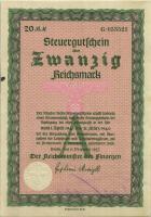 Steuergutschein 20 Reichsmark 1937 (1941) (1-)