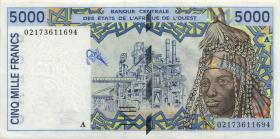 West Afrikanische Staaten / West African States P.113AI 5000 Francs 2002 (1) Elfenbeinküste