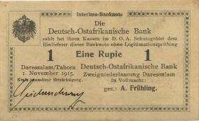 "R.918e: 1 Rupie 1915 G (2) ""Seidenschwarz"""