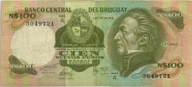 Uruguay P.060 100 Nuevos Pesos (1975) Serie A (3)