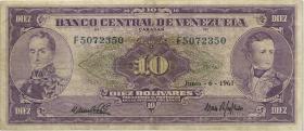 Venezuela P.42 10 Bolivares 1961 (3)