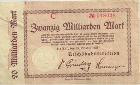 """PS1164 Reichsbahn Kassel 20 Milliarden Mark 1923 (3) """"mit No"""""""