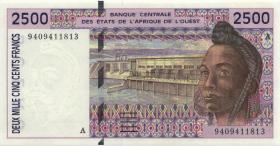 West-Afr.Staaten/West African States P.112Ab 2500 Francs 1994 Elfenbeinküste (1)