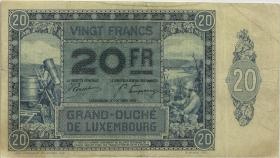 Luxemburg / Luxembourg P.37 20 Francs 1929 (3)
