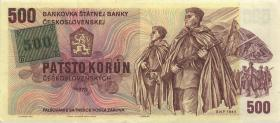 Tschechien / Czech Republic P.02b 500 Kronen (1993) W Kuponausgabe (1)