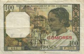 Komoren / Comoros P.03b 100 Francs (1960-63) (3)