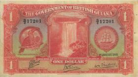 Britisch Guyana / British Guiana P.12c 1 Dollar 1936 (3-)