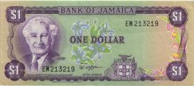 Jamaika / Jamaica P.64a 1 Dollar (1982-86) (3+)