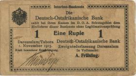 """R.919a: Deutsch-Ostafrika 1 Rupie 1915 H (3) """"Kreuzberger"""""""