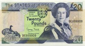 Jersey P.23 20 Pounds (1993) DC 999909 (1)