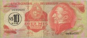 Uruguay P.058 10 Nuevo Peso auf 10000 Pesos (1975) (4)