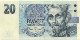 Tschechien / Czech Republic P.10b 20 Kronen 1994 (1/1-)