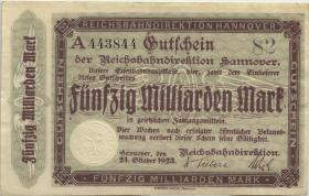PS1257a Reichsbahn Hannover 50 Milliarden Mark 1923 A (2)