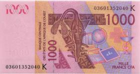 West Afrikanische Staaten / West African StatesP.715Ka 1.000 Francs 2003 (1)