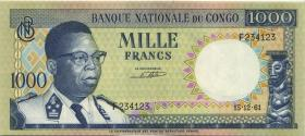 Kongo / Congo P.008 1000 Francs 15.12.1961 (1)