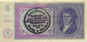R.557a 5 Kronen o.D. Handstempel (2+)