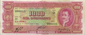 Bolivien / Bolivia P.149 1.000 Boliviano L. 1945 (3)