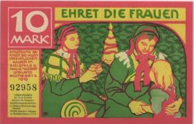 Bielefeld 10 Mark 1919 Ehret die Frauen (1)