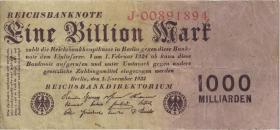 R.126a: 1 Billion Mark 1923 Reichsdruck (3-)