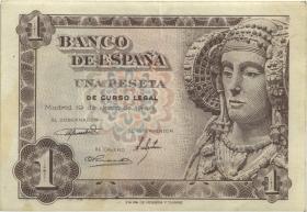 Spanien / Spain P.135 1 Pesetas 1948 (3)