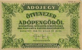 Ungarn / Hungary P.138b 50.000 Adopengö 1946 (2)