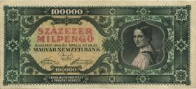 Ungarn / Hungary P.127 100.000 Milpengö 1946 (3+)