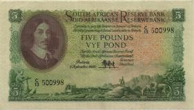 Südafrika / South Africa P.096a 5 Pounds 2.9.1950 (3+)