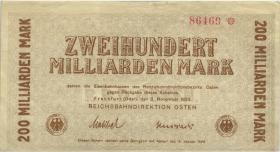 PS1235b Reichsbahn Frankfurt/Oder 200 Milliarden Mark 1923 (3+)