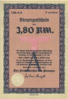 Steuergutschein 3,80 Reichsmark 1937 (1941) (1)