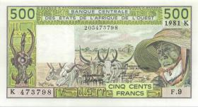 West-Afr.Staaten/West African States P.706Kc 500 Francs 1981 (1)