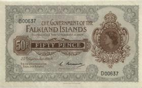 Falkland Inseln P.10a 50 Pence 1969 (2)