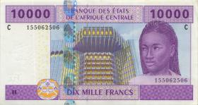 Zentral-Afrikanische-Staaten / Central African States P.610C 10.000 Francs 2002 Tschad (1)