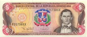 Dom. Republik/Dominican Republic P.152 5 Pesos Oro 1996 (1)