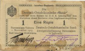 R.916h: 1 Rupie 1915 Q Unterschrift Kreuzberger (3)