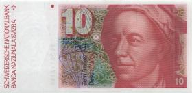 Schweiz / Switzerland P.53h 10 Franken 1990 (1)