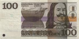 Niederlande / Netherlands P.093 100 Gulden 1970 (3)