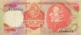Uruguay P.053c 10000 Pesos (1974) Serie C (3)