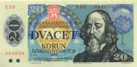 Tschechoslowakei / Czechoslovakia P.95 20 Kronen 1988 (2)