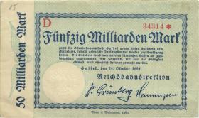 PS1165 Reichsbahn Kassel 50 Milliarden Mark 1923 (3+)