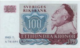 Schweden / Sweden P.54c 100 Kronen 1985 (1)