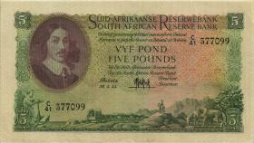 Südafrika / South Africa P.097c 5 Pounds 24.5.1955 (Afrikaans) (3)