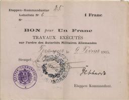 R.406a 1 Franc 1915 Etappen-Kommandatur (2)