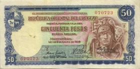 Uruguay P.42A 50 Pesos L.1939 (3)