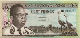 Kongo / Congo P.006a 100 Francs 1.2.1962 (1)