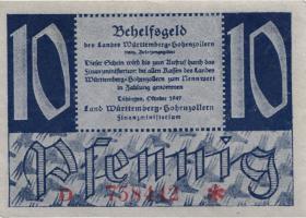 R.215b: Württemberg 10 Pf. 1947 D (1)