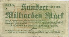 PS1108b Reichsbahn München 100 Milliarden Mark 1923 (4)