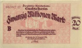 PS1270 Reichsbahn Karlsruhe 20 Millionen Mark 1923 (1)