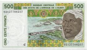 West-Afr.Staaten/West African States P.310Cm 500 Francs 2002 Burkina Faso (1)