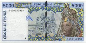 West-Afr.Staaten/West African States P.113Ac 5.000 Francs 1994 (1)