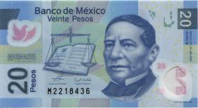 Mexiko / Mexico P.122a 20 Pesos 19.6.2006 Polymer (1)